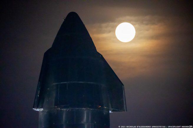 La nave espacial SN15.  Crédito: Nicholas D'Alessandro / Spaceflight Insider