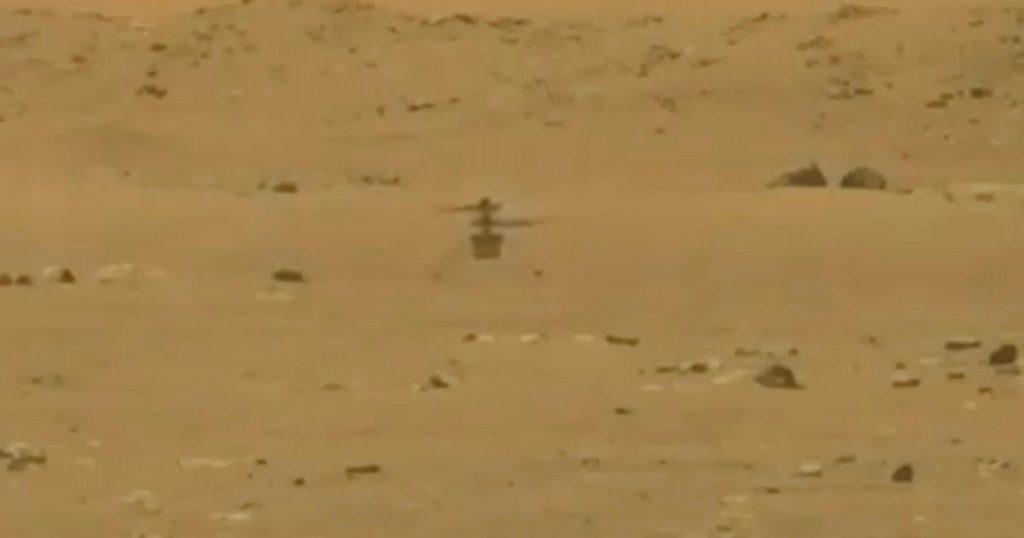 """Un innovador helicóptero de la NASA realiza su primer vuelo a Marte en """"El momento de los hermanos Wright"""""""