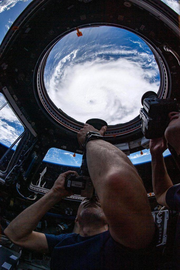 Huracán Dorian desde la cúpula de la Estación Espacial Internacional