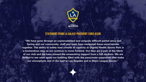 LA Galaxy recibirá grandes multitudes en Dignity Health Sports Park a partir del 19 de junio