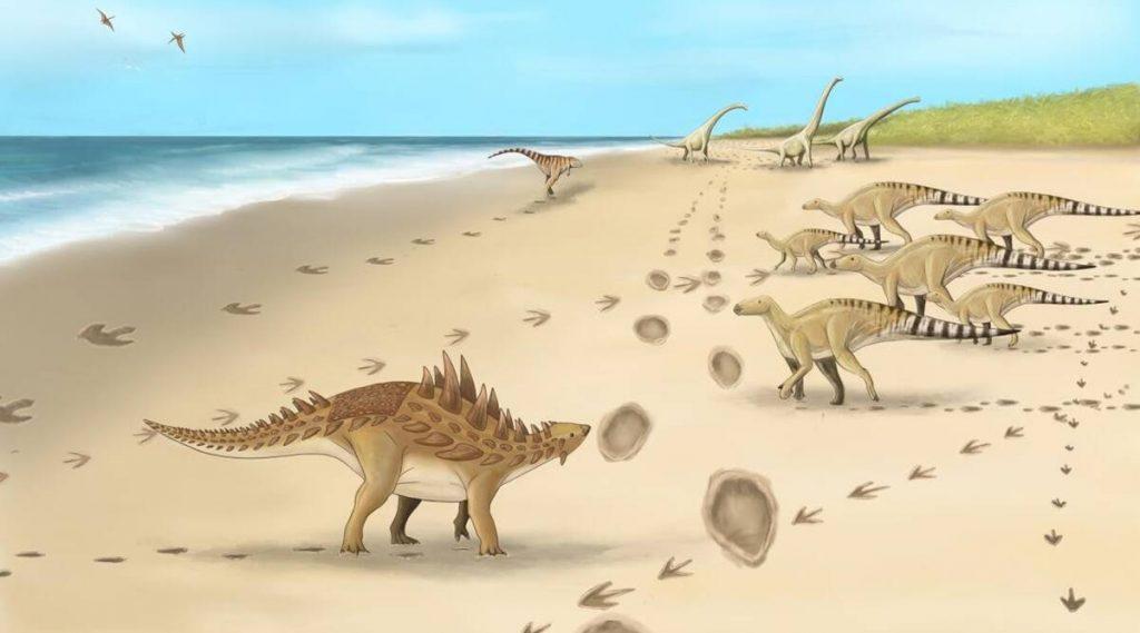 Las últimas huellas de dinosaurio que caminaron sobre suelo británico fueron descubiertas en Kent