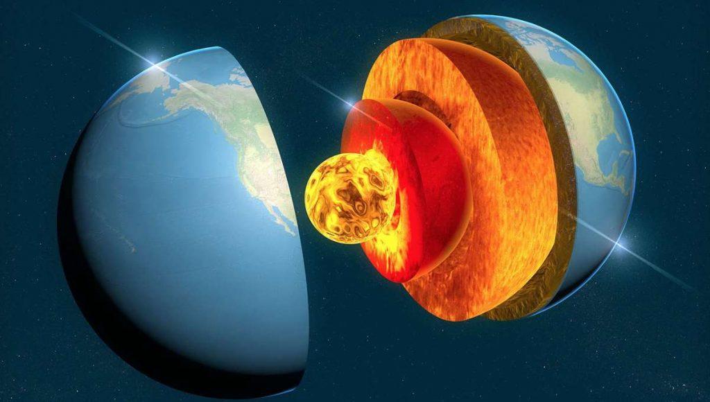 Un nuevo informe muestra que el núcleo de la Tierra crece de manera no uniforme