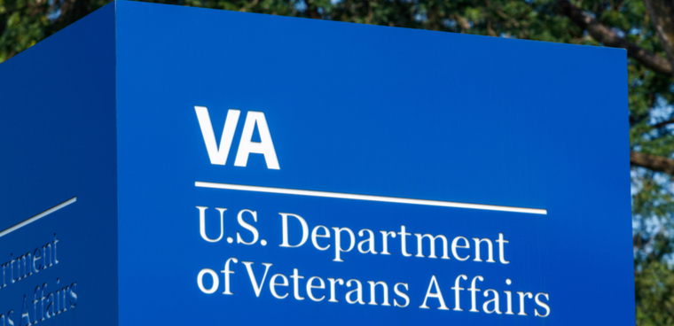 Blue Signage and logo of the U.S. Department of Veterans Affairs