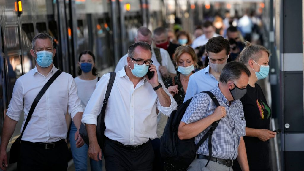 The vast majority of people still seem to be wearing face masks on public transport in London, such as here at London Bridge