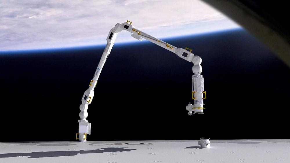 La Estación Espacial Internacional recibe un nuevo brazo robótico para ayudar con el mantenimiento y el transporte