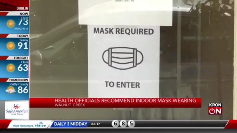 Las empresas reaccionan después de que los funcionarios de salud del Área de la Bahía recomiendan usar una máscara interior