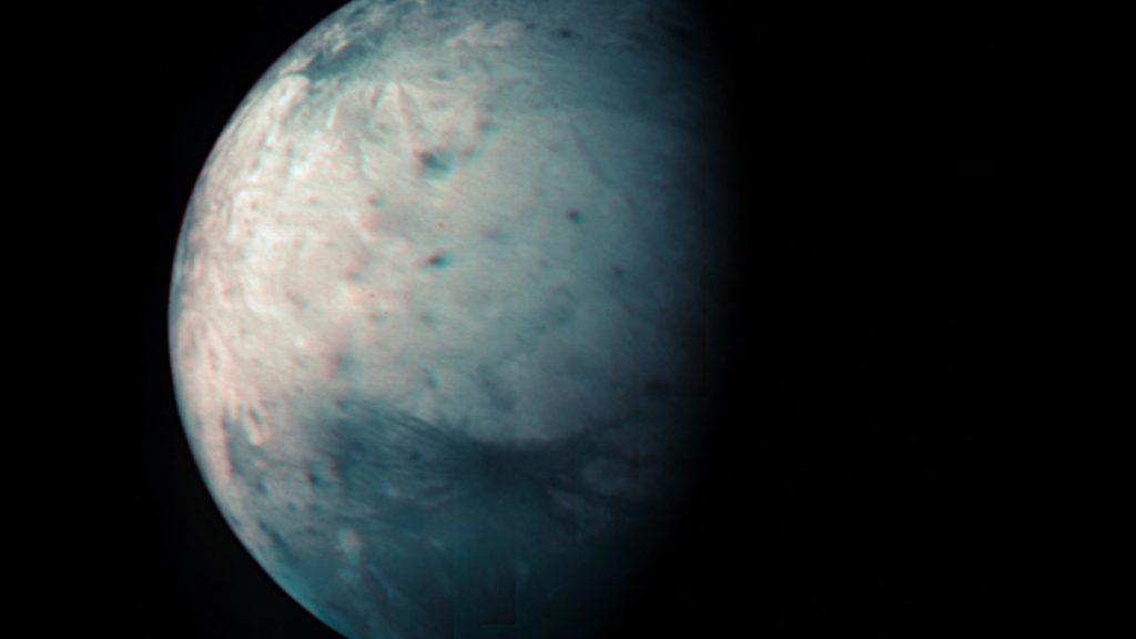 Impresionante imagen de la luna más grande de Júpiter indica el paso de 10 años desde la sonda Juno