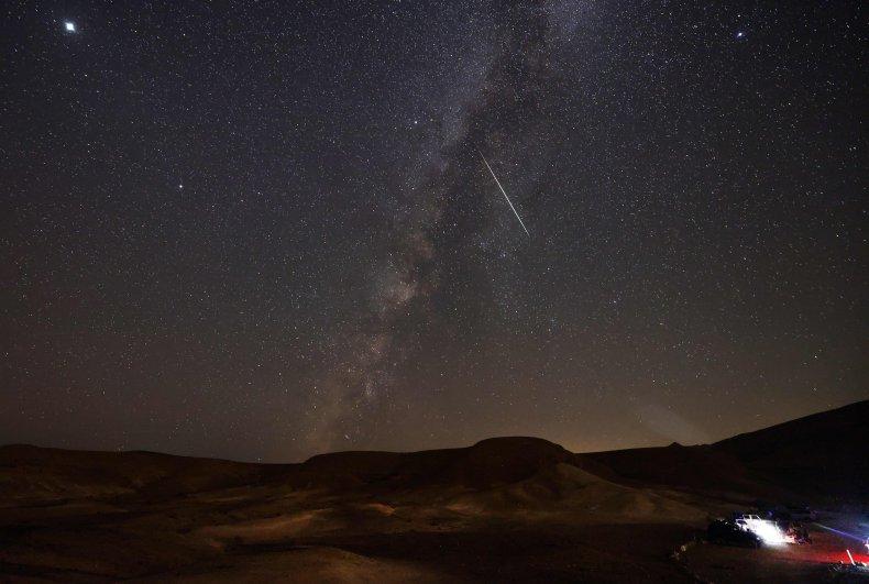 Meteorito de las perseidas sobre Israel