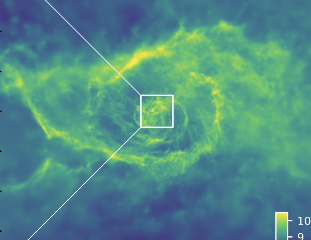 Vea el festival de los agujeros negros supermasivos en una nueva y encantadora simulación (video)