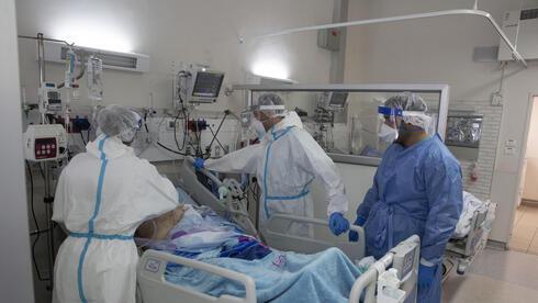 מחלקת קורונה בבית החולים ברזילי באשקלון
