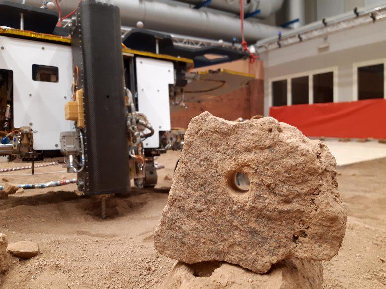 Primer agujero perforado en ExoMars Twin Rover