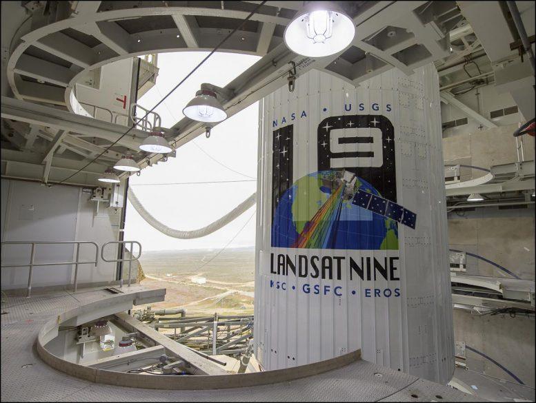 Cohete Landsat 9 del USGS de la NASA