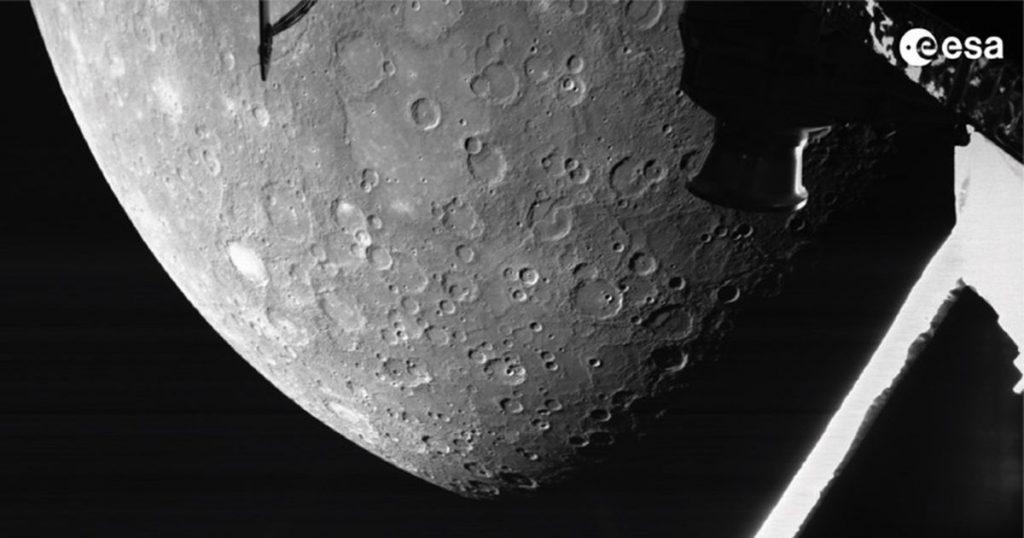 Observa a Mercury de cerca mientras la misión espacial BepiColombo envía una hermosa imagen